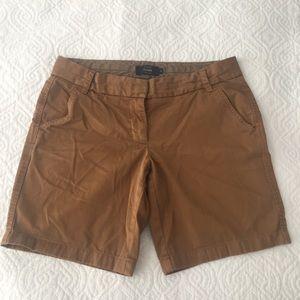 "J. Crew 7"" Chino Shorts Caramel Brown Size 8"